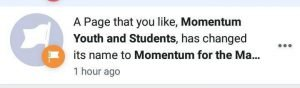 Momentum for the Many