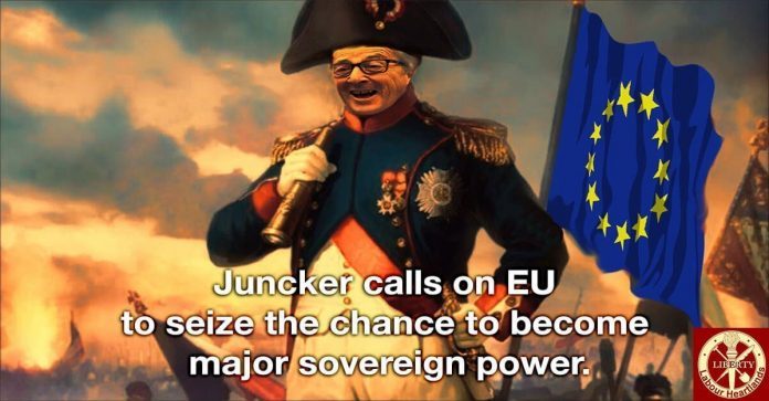 Juncker calls on EU to seize the chance to become major sovereign power.