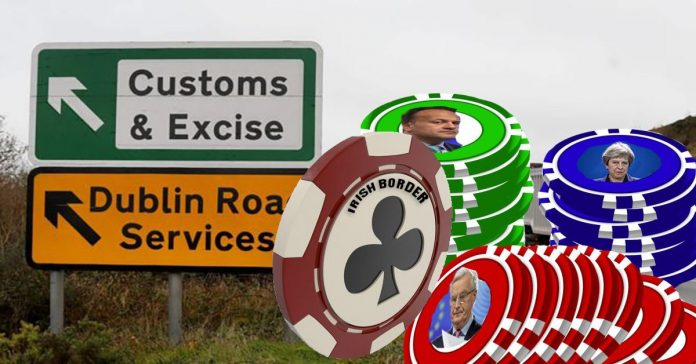 Irish border political bargaining chip