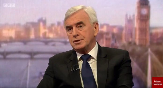 """Shadow chancellor John McDonnell said a second referendum was """"not the best option"""""""