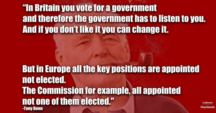 In Britain you vote for a government and therefore the government has to listen to you. And if you don't like it you can change it.