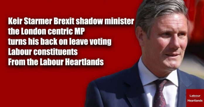 keir starmer turns his back on leave voting constituencies