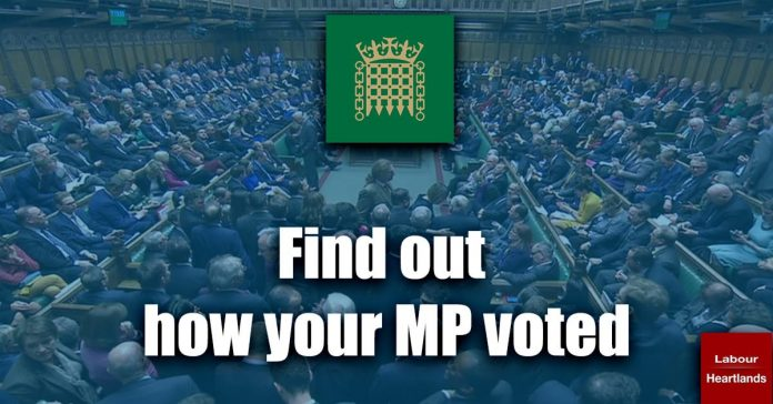 Find out how your MP voted