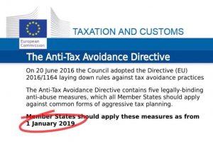 The Anti Tax Avoidance Directive